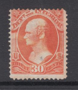 US Sc O23 MNG. 1873 30c Interior Department Official