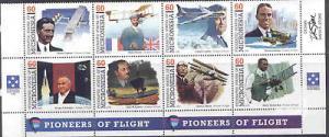 Micronesia 249 Bottom Block MNH  Aircraft, Rocket, Flag, Gianni Caproni