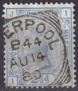 Great Britain #68 Plate19  F-VF  Used  CV $65.00  (Z5211)
