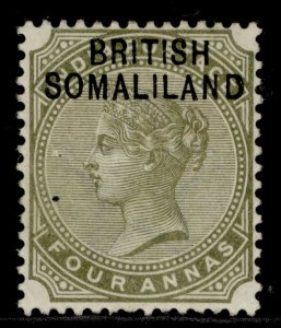 SOMALILAND PROTECTORATE EDVII SG6, 4a slate-green, M MINT.