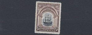 ANTIGUA  1932  SG 90  5/-  BLACK &  CHOCOLATE   MH  CAT £120