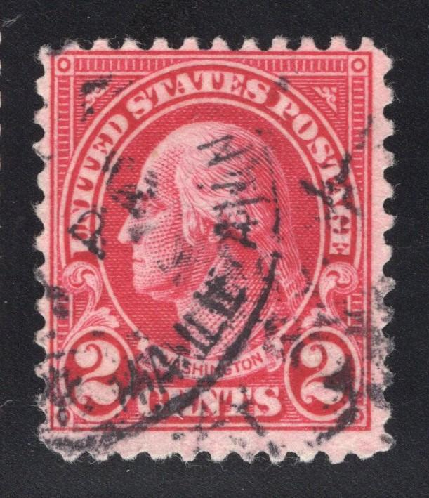 US#634A Carmine - Type II - Supplemental Mail Cancel?