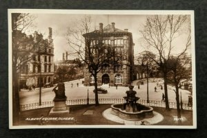 Vintage Albert Square Dundee Scotland Real Picture Postcard RPPC Cover
