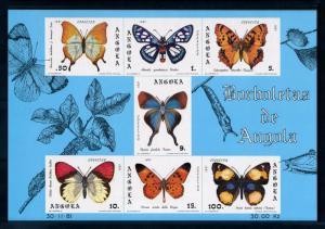 [70620] Angola 1982 Insects Butterflies Souvenir Sheet MNH