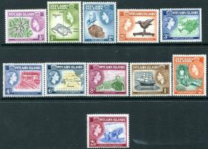 PITCAIRN ISLANDS-1957-63 ½d-2/6 Set of 12 Values Sg 18-28 UNMOUNTED MINT V28842