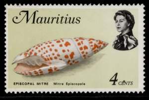 MAURITIUS QEII SG384, 1969 4c mitre episcolpale, NH MINT.
