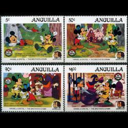 ANGUILLA 1985 - Scott# 648-51 Disney-Bro.Grimm Set of 4 NH