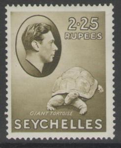 SEYCHELLES SG148 1938 2r25 OLIVE MTD MINT