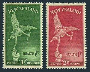 New Zealand B30-B31 blocks/4,MNH.Michel 299-300. Health 1947.Statue of Eros.
