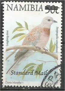 NAMIBIA, 2000, used Std (65c) on 50c,  Rosyfaced lovebird  Scott