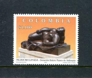 Colombia 1181, MNH, Reclining Woman, by Fernando Botero 2001. x23443