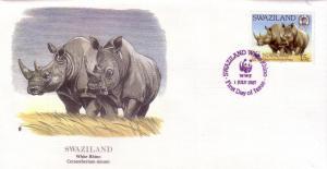 Swaziland FDC SC# 519 White Rhino L341