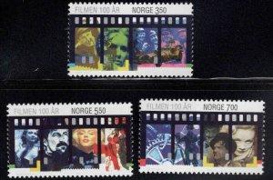 Norway Scott 1134-1136 MNH** Cinema stamp set