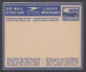 Bechuanaland Protectorate, H&G F-G5, unused 1945 3p blue on buff Aerogramme
