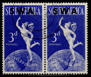 SOUTH WEST AFRICA GVI SG140, 3d bright blue, FINE USED.