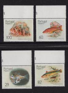 Portugal Madeira   #133-136  MNH 1989  fish