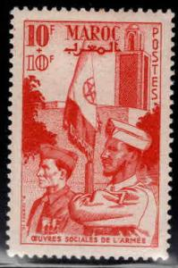 French Morocco Scott B43  MH* 1949 semi-postal stamp
