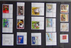 Luxembourg 2005 2006 Commemorative issues Europa Tourism Football Xmas etc MNH