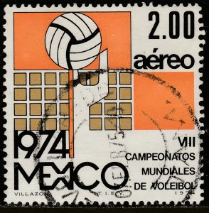 MEXICO C433 8th World Volleyball Championship. Used. VF. (449)