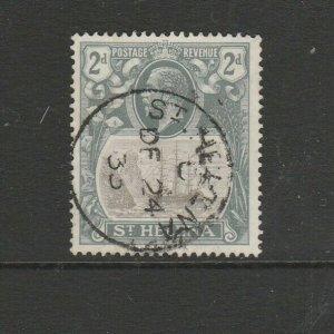 St Helena 1922/37 ship defs, 2d cds Used SG 100