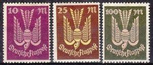 Stamp Germany Reich Mi 235-7 Sc C12-4 1923 Airmail Wood Pigeon Luftpost MH
