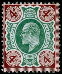 SG236a SPEC M24(1), 4d green & chocolate-brown (CHALKY), NH MINT. Cat £70.