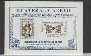 GUATEMALA #C459a  1971 25TH ANNIV. OF CARE MINT  VF NH  O.G S/S