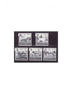 Montserrat - Dogs - 5 Stamp  Set  - 13M-002