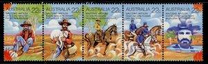 AUSTRALIA QEII SG742a, 1980 horiz strip of 5 742/746, NH MINT.