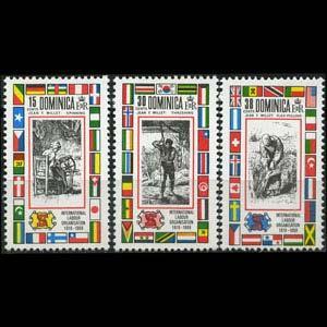 DOMINICA 1969 - Scott# 254-6 ILO Set of 3 NH