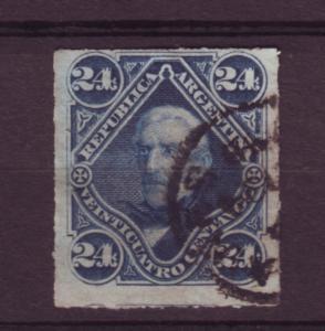 J11359 JL stamps 1878 argentina hv of set #37 san martin rouletted