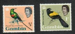 Gambia; Scott 175-176; 1963;  Unused; NH
