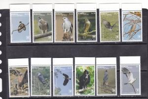 Tonga 2018 birds of prey set of 12v MNH