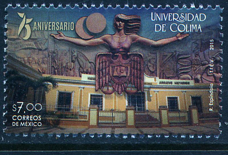 MEXICO 2946, University of Colima, 75th Anniversary. MNH