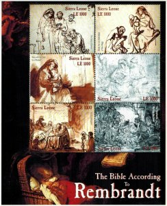 Sierra Leone MNH S/S The Bible According To Rembrandt