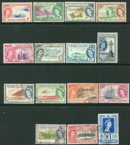 CAYMAN ISLANDS-1953-62 Set to £1 Sg 148-161a FINE USED V32966