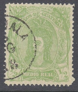 GUATEMALA  An old forgery of a classic stamp................................C933