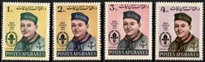 Afghanistan Stamp #623-6 MNH - Boy Scouts Day