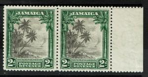 Jamaica SG# 111, pair with margin, Mint Lightly Hinged - S1350