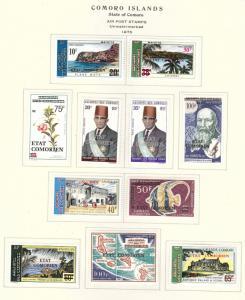 Comoro Islands, State of Comoro Etat Comorien 1975 set of 27 MH*