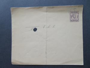 Montenegro 1893 7H Blue Postal Stationery Canceled / Light Curling - Z7806