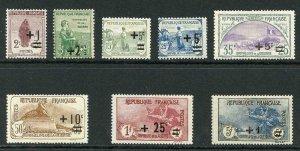 France SG388/95 1922 War Orphans fund set Fresh M/M