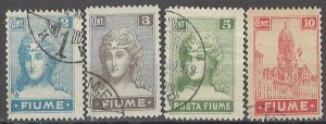COLLECTION LOT OF # 1657 FIUME # 27-30a 1919 CV+$23