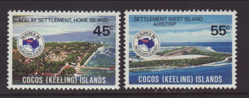 Cocos Keeling Islands 119-120 Ausipex MNH VF