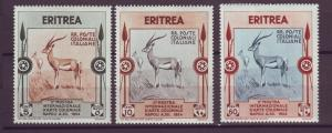 J21258 Jlstamps 1934 eritrea part of set mh #175-6, 179 gazelles