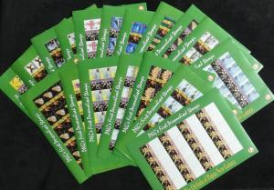 PAPUA NEW GUINEA 2007 Orchids Flowers Wildlife 18 Sheets MNH (PAP225