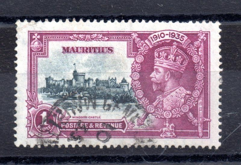 Mauritius 1935 1R Silver Jubilee SG248 very fine used WS9252