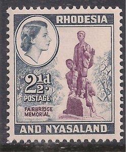 Rhodesia & Nyasaland 1959 - 62 QE2 2 1/2d Fairbridge Memorial Umm SG 21 ( E14...