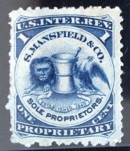 Scott #RS174d - 1c Blue - Wmk 191R - S. Mansfield & Co.