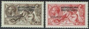 BECHUANALAND 1913 KGV SEAHORSES SPECIMEN SET